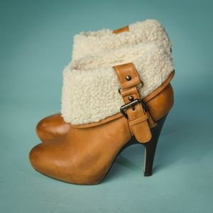 Dolce Vita 6 Brown Leather Heel Ankle Booties